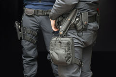 Armed policemen Stock Image