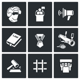 Armed revolution icons. Vector Illustration. Stock Images