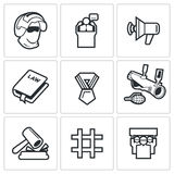 Armed revolution icons. Vector Illustration. Royalty Free Stock Photos