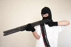 Armed robber Royalty Free Stock Photo