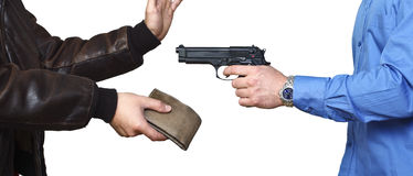 Armed robbery Royalty Free Stock Photo