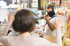 Armed Robbery Royalty Free Stock Photography