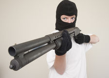 Armed robbery Royalty Free Stock Image