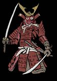 Armed samurai Stock Images