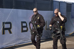 Armed Security Guards at Superbowl XLV Royalty Free Stock Photo