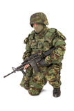 Armed soldier isolated on white background Stock Photo