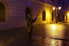 Armed soldier statue royalty free stock photo