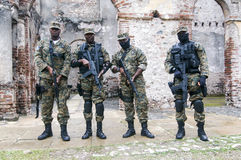 Armed Soldiers at Milot, Haiti Royalty Free Stock Photos