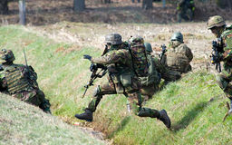 Armed special forces training Royalty Free Stock Photos