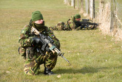 Armed special forces training Royalty Free Stock Images