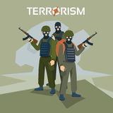 Armed Terrorist Group Terrorism Concept Royalty Free Stock Photos
