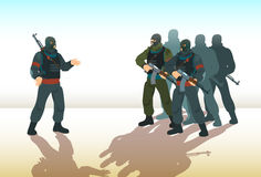 Armed Terrorist Group Terrorism Concept Stock Images