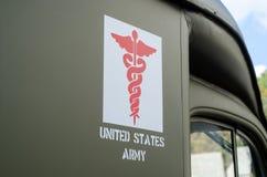 Armee-Ambulanzdienste Vereinigter Staaten lizenzfreie stockfotografie