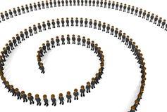 Armee der Geschäftsmannspirale Stockbild