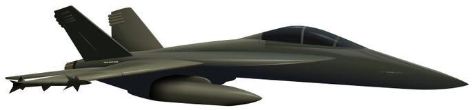 Armee-Flugzeug auf weißem Hintergrund vektor abbildung