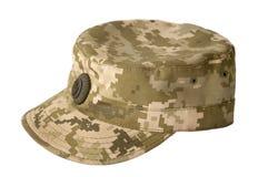 Armee getarnte Kappe Stockfotos