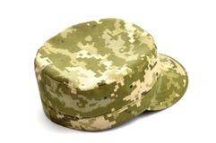 Armee getarnte Kappe Stockfotografie