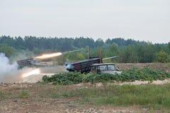 Armee im Kampf Stockfoto