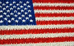 Armee-Mann-amerikanische Flagge