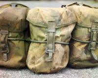Armee-Material-Taschen Lizenzfreies Stockfoto