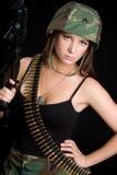 Armee-Mädchen Lizenzfreie Stockfotografie