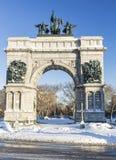 Armee-Piazza-Monument Snowy großartiges Lizenzfreies Stockfoto