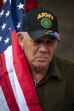 Armee-Veteran, der am Trumpf-Protest teilnimmt Stockfoto