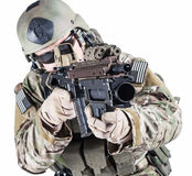 Armeeförster Vereinigter Staaten mit Granatwerfer Stockfotografie