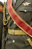 Armeekleidparadeuniform. Stockfotos