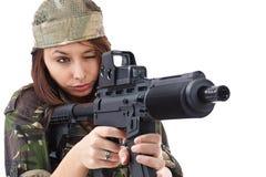 Armeemädchen Stockfoto