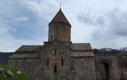 Armeens klooster Tatev van de 9de eeuw stock foto