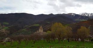 Armeens klooster Tatev van de 9de eeuw stock afbeelding