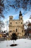 Armeense Katholieke kerk in Dumbraveni, Roemenië royalty-vrije stock afbeeldingen