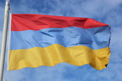 Armeense vlag Stock Fotografie