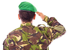 Armeesoldatbegrüßung Lizenzfreies Stockbild