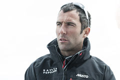 Armel le cleach. French breton navigator in douarnenez grand prix guyader 2013 Stock Photo