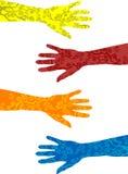 Armen en handen met tatoegeringen Royalty-vrije Stock Foto's