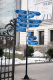 Armeneasca church distance signs Royalty Free Stock Images