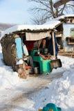 Armenhaus im Winter Lizenzfreies Stockbild