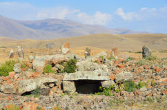 Armenië, de dolmen in Stonehenge, bronstijd stock afbeelding