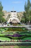 Armenië, de gezichten van Yerevan, Cascade stock afbeelding