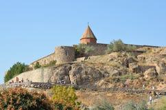Armenië, het klooster van Khor Virap stock afbeeldingen