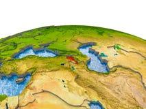 Armenië op model van Aarde Royalty-vrije Stock Foto