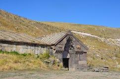 Armenië, Selim-caravanserai, het jaar 1332 gebouwd jaar Royalty-vrije Stock Foto's