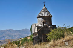 Armenië, Tsahats -tsahats-kar klooster, de kerk van eeuw 10 stock afbeeldingen
