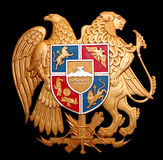 Armenia. Coat of Arms with lions stock photos