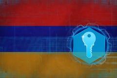 Armenia access key. Network safety concept. stock illustration