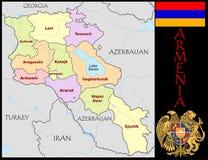 Armenia Administrative divisions Stock Image