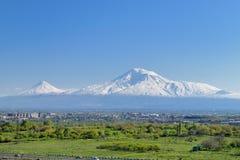 Armenia ararat góry Obrazy Royalty Free