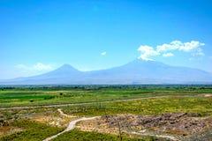Armenia ararat granice górski indyk wiosny Zdjęcia Royalty Free